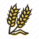 bakery, farm, field, flour, food, wheat icon