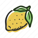 food, fruit, healthy, lemon, sour, tropical icon