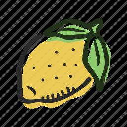 food, fruit, healthy, lemon, sour, tropical icon