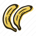 banana, food, fruit, garden, healthy, tropical icon
