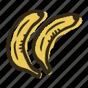 banana, food, fruit, garden, healthy, tropical