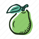 food, fruit, garden, healthy, pear, sweet, tree icon