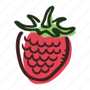 dessert, food, forest, fruit, healthy, raspberry, sweet icon