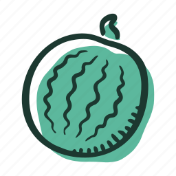 field, food, fruit, healthy, sweet, watermelon icon