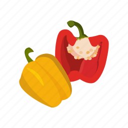 bell peppers, capsicum, food, vegetable icon