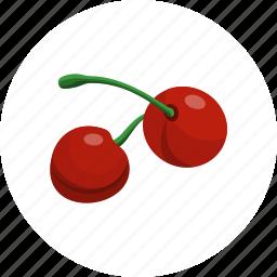 cherries, cherry, food, fruit, sweet icon
