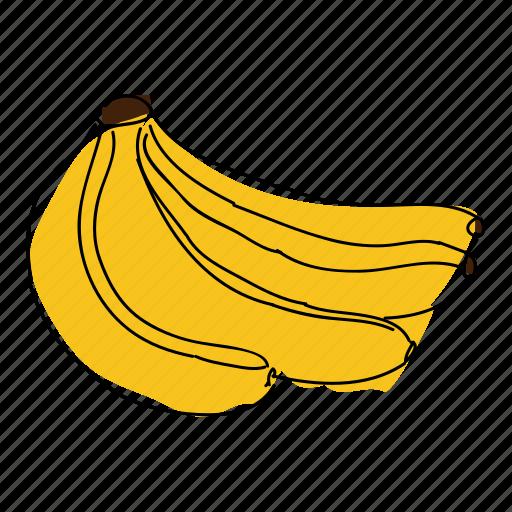 banana, banana bunch, bananas, food, fruit, tropical, yellow banana icon