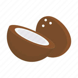 coconut, food, fruits, nature icon