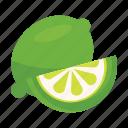 food, fruits, lemon, nature, unriped icon