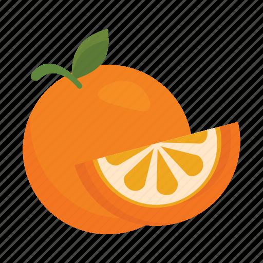 food, fruits, nature, orange icon