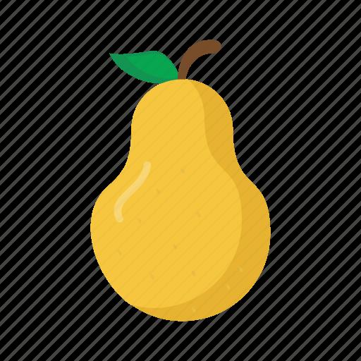 food, fruits, nature, pear icon