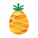 food, fruits, nature, pineapple icon