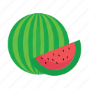 food, fruits, melon, nature, water icon