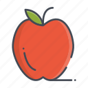 apple, fresh, fruits icon