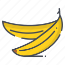 banana, fresh, fruits icon