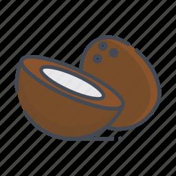 coconut, fresh, fruits icon
