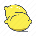 fresh, fruits, lemon icon