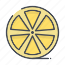 cut, fresh, fruits, lemon icon
