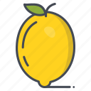 fresh, fruits, lemon, vegetable icon