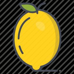 fresh, fruits, lemon, vegetable icon