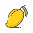 fresh, fruits, mango icon