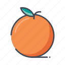 fresh, fruits, orange icon