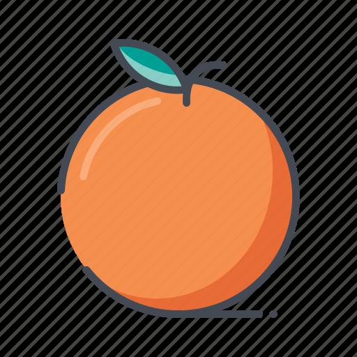 fresh, fruits, orange icon