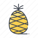 fresh, fruits, pineapple icon