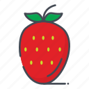 fresh, fruits, strawberry icon
