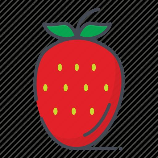 fresh, fruits, strawberry icon