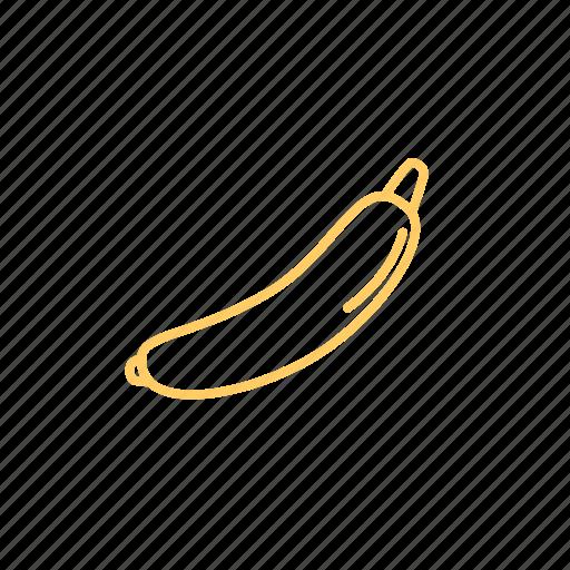 banana, dessert, fruit, fruits, ingridien icon