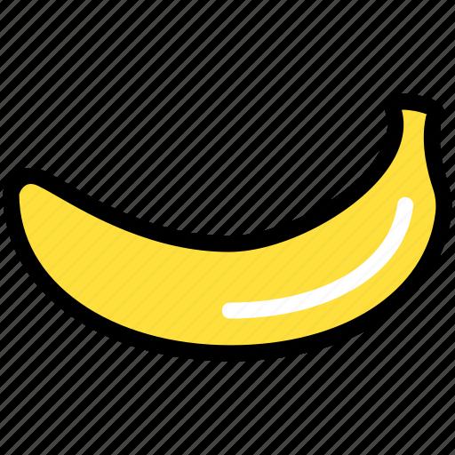 banana, food, fresh, fruit, healthy, nature, organic icon