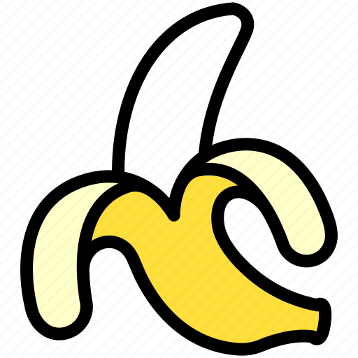 banana, food, fresh, fruit, healthy, organic, peeled icon