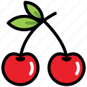 berry, cherry, food, fresh, fruit, organic, sweet icon