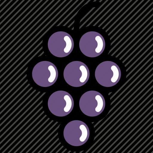 fresh, fruit, grape, grapes, organic, sweet, wine icon