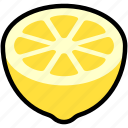 citrus, food, fresh, fruit, half, lemon, sour icon