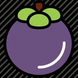 food, fresh, fruit, healthy, mangosteen, organic, tropical icon