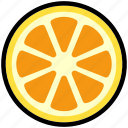 citrus, fresh, fruit, healthy, natural, orange, sliced icon