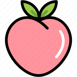 fresh, fruit, juicy, nature, organic, peach, sweet icon