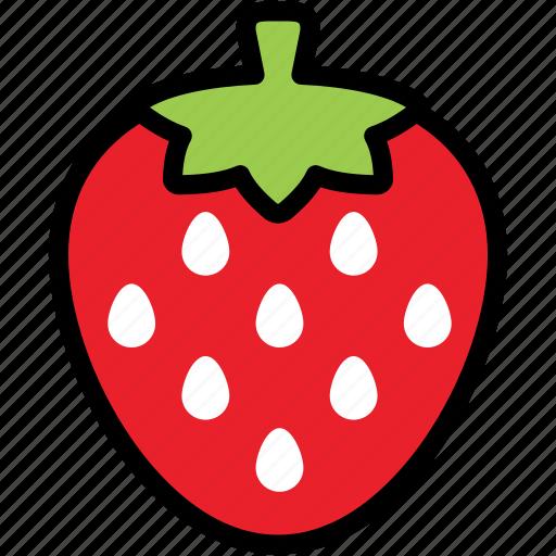 dessert, fresh, fruit, juicy, organic, strawberry, sweet icon