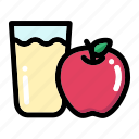 apple, apple fruit, apple juice, fresh fruit, fruit icon