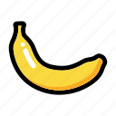 banana, banana fruit, fresh fruit, fruit, nutrition icon
