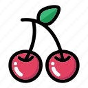 berry, cherry, food, fresh fruit, fruit icon