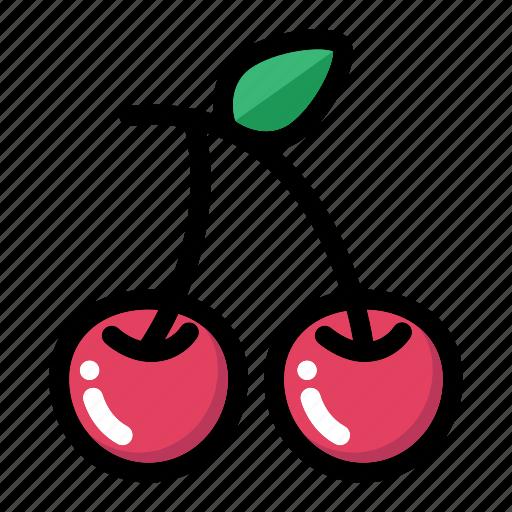 berry, cherry, food, fresh fruit, fruit icon