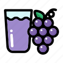 fruit, grape, grape fruit, grape juice, wine icon