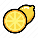 citrus, fruit, half of lemon, lemon fruit, lime icon