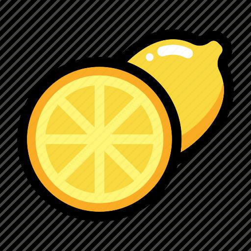citrus, fruit, half of lemon, lemon fruit, lime icon
