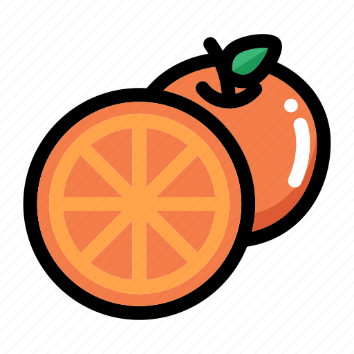 citrus, fresh fruit, fruit, half of orange, orange fruit icon