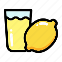 fresh fruit, lemon fruit, lemon juice, lemonade, lime icon