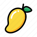 fresh fruit, fruit, mango, mango fruit, tropical icon